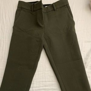 Olive green pants from Ann Taylor